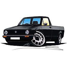 VW Caddy Black Photographic Print