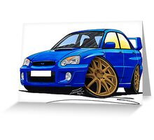 Subaru Impreza (2003-06) Blue Greeting Card