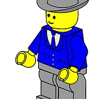 Texas Businessman Minifig by Customize My Minifig by ChilleeW