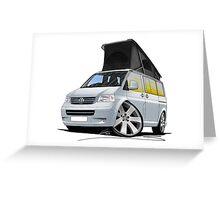 Volkswagen T5 California Camper Van Silver Greeting Card