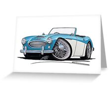 Austin-Healey 3000 Blue/White Greeting Card