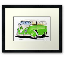 VW Splitty (11 Window) Lime Green Framed Print