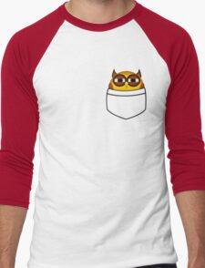Pocket owl is highly suspicious Men's Baseball ¾ T-Shirt