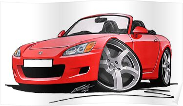 Honda S2000 Red by Richard Yeomans