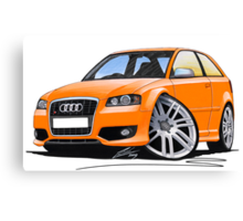 Audi S3 (Mk2) Orange Canvas Print