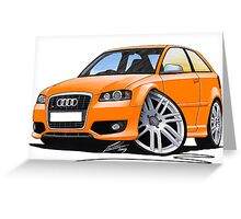 Audi S3 (Mk2) Orange Greeting Card