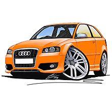 Audi S3 (Mk2) Orange Photographic Print