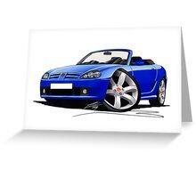 MG TF Blue Greeting Card
