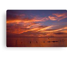 Spectacular Sunrise-Seabrook, Texas Canvas Print