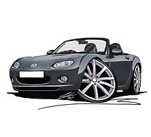 Mazda MX5 (Mk3) Grey Photographic Print