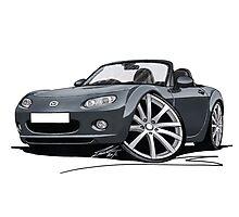 Mazda MX5 (Mk3) Grey Photographic Print