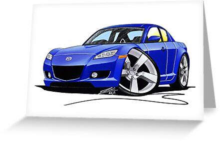 Mazda RX8 Blue by Richard Yeomans