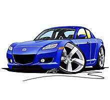 Mazda RX8 Blue Photographic Print