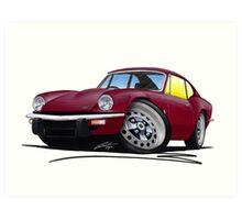 Triumph GT6 Damson Art Print