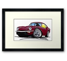 Triumph GT6 Damson Framed Print