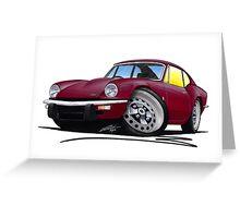 Triumph GT6 Damson Greeting Card