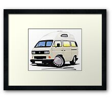 VW T25 / T3 [SQ] (High Top) White Framed Print