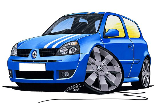 RenaultSport Clio 182 Blue by Richard Yeomans