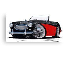 Austin-Healey 3000 Black/Red Canvas Print