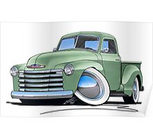 Chevy 3100 Pick-Up Pastel Green Poster