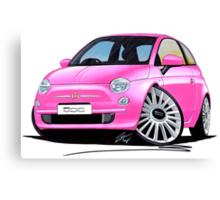 New Fiat 500 Pink Canvas Print