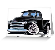 Chevy 3100 Pick-Up (A) Black Greeting Card