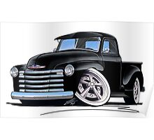 Chevy 3100 Pick-Up (A) Black Poster