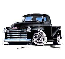 Chevy 3100 Pick-Up (A) Black Photographic Print