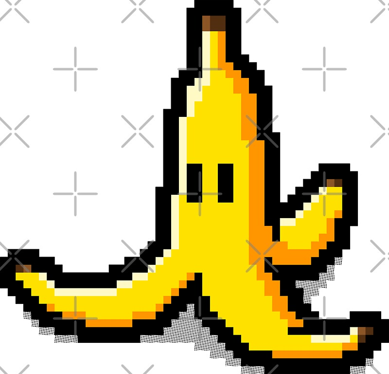 pixel banana stickers by r evolution gfx redbubble. Black Bedroom Furniture Sets. Home Design Ideas