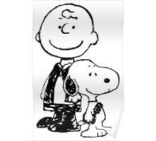 Peanuts meets Star Wars Poster