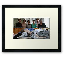 "SOME of the 30 volunteers who worked on: ""Echoes from the Past"". Framed Print"