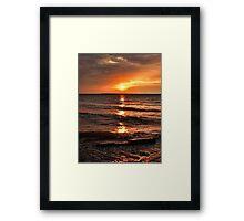 Friday The 13th Sunset Framed Print