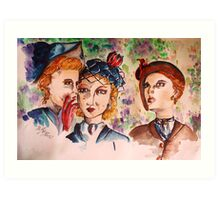 Confessions in the garden Art Print