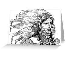 Chief's War Bonnet Greeting Card