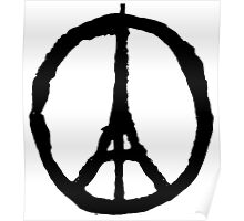 Eiffel Tower Peace Symbol Poster
