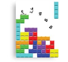 First Tetris, then the World Canvas Print