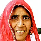 Portrait of an Indian Tourist  by Valerie Rosen