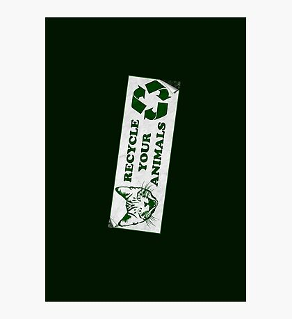 Recycle your Animals - Fight Club Photographic Print