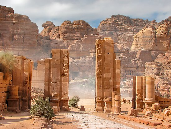 Temenos Gateway in Petra, Jordan by Yair Karelic