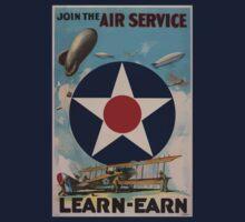 Join the Air Service Learn Earn 002 Kids Tee
