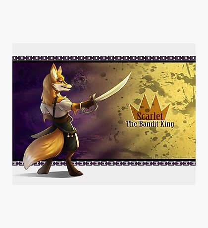 Scarlet The Bandit King Photographic Print