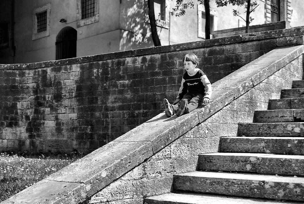 Stone Slide-Todi, Italy by Deborah Downes
