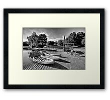 Boats at the Pond Framed Print