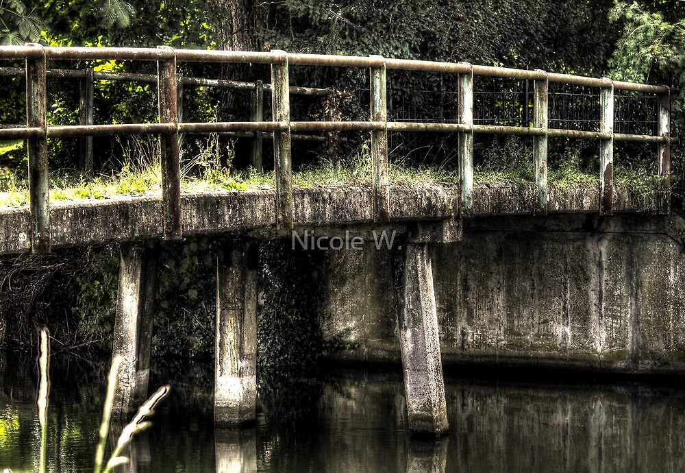 Bridge over still water by Nicole W.