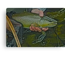 Welcome to Fishing Adventures. by Andy Brown Sugar . Canvas Print