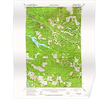 USGS Topo Map Washington State WA Bandera 239926 1960 62500 Poster