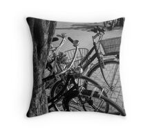 Bicycles-bicycles Throw Pillow