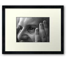 No wrinkle here Framed Print