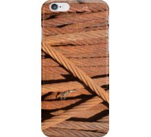 Rusty cables on a drum in Provincetown harbor iPhone Case/Skin