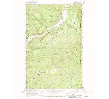 USGS Topo Map Washington State WA Aladdin 239772 1966 24000 Photographic Print